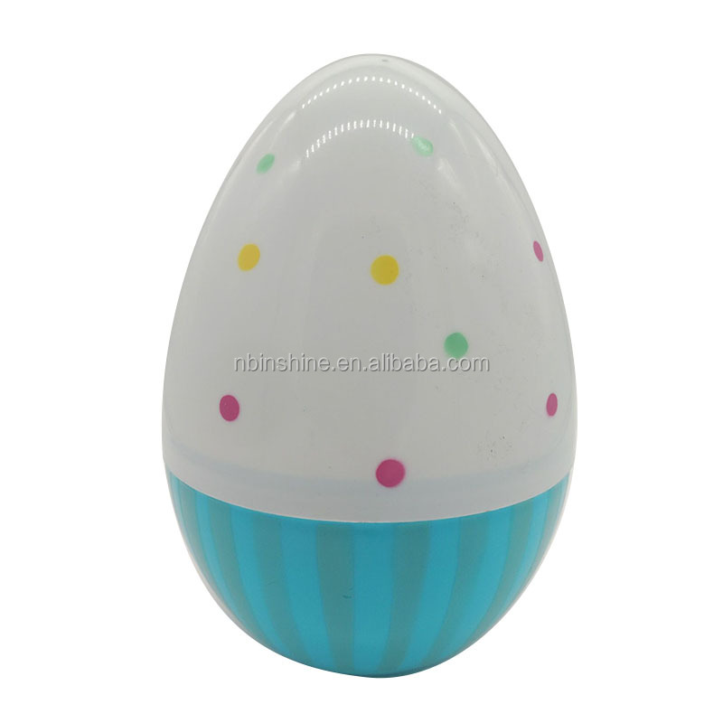Hamburg  printing egg shaped pp container toys container easter gift