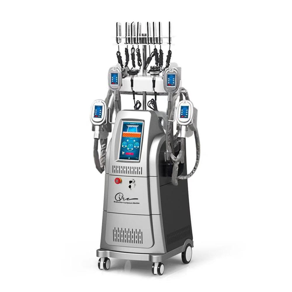 Waesen Main Product Cryo05 cryolipolysis machine with 4 freeze vacuum cryotherapy handles + 40K cavitation + RF + lipolaser