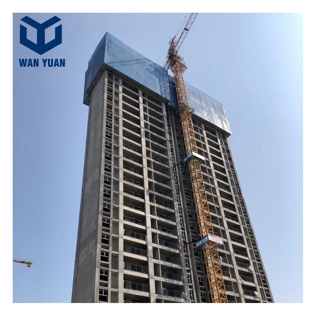 High building construction external facade protection working decks with safety access