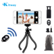 Phone Flexible Tripod with Wireless Remote Shutter Compatible with Mini Tripod Stand Holder for Camera GoPro/Mobile Cell Phone