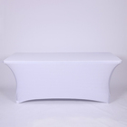 White wedding table cover elastic long bar rectangle spandex tablecloth