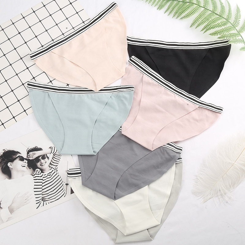 Japanese Simple New Arrival Young Girls Sports Seamless Cotton Sexy Panty Brief