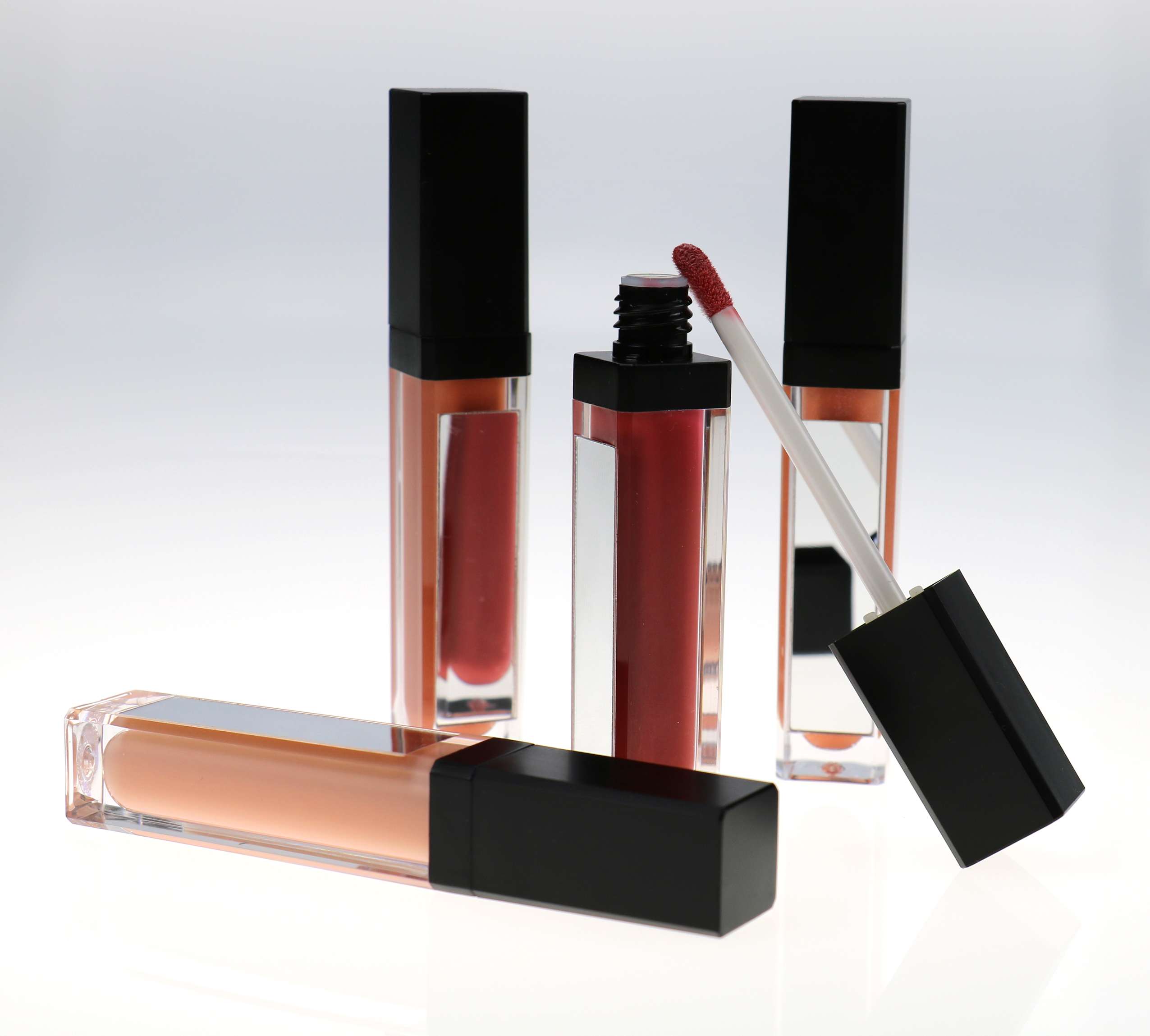 lip gloss with led light and mirror private label lipstick  liquid shiny colors