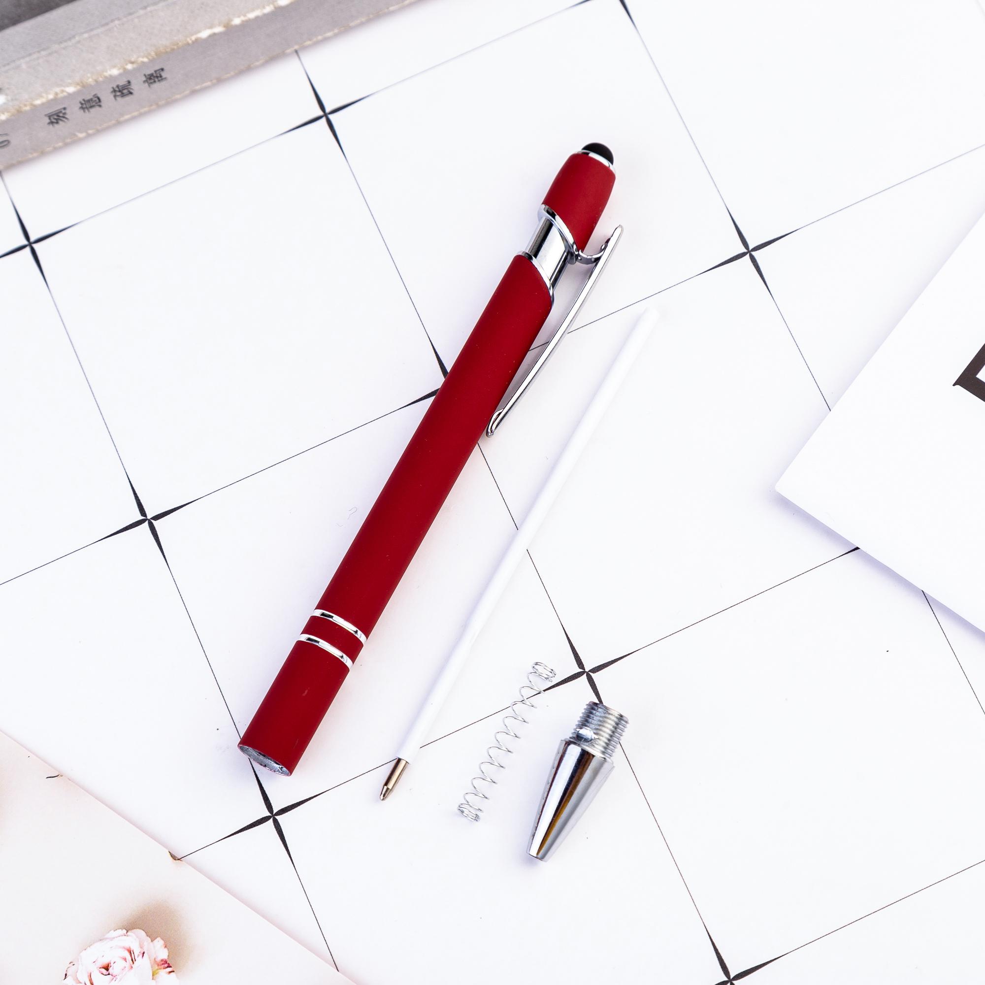 Promotional Custom 2 in 1 Capacitive Multi Function Metal Ball Pen Aluminum Touch Screen Logo Tablet Stylus Pen