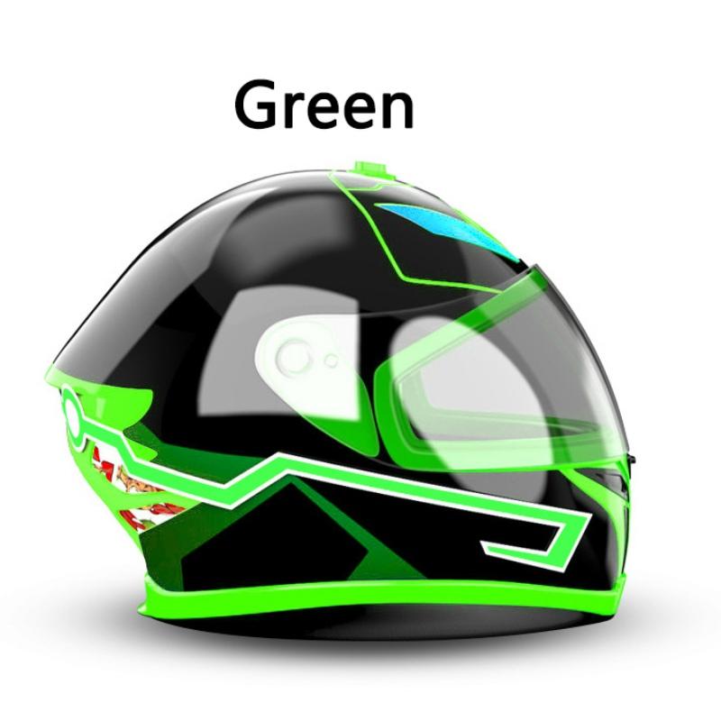 DIY लचीला मोटरसाइकिल हेलमेट एलईडी प्रकाश पट्टी ईएल टेप हेलमेट मोटरबाइक सुरक्षा ईएल चमक पट्टी