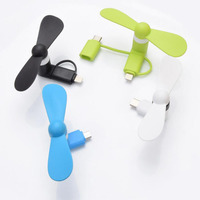 mini portable phone fan micro USB mobile phone fan for summer