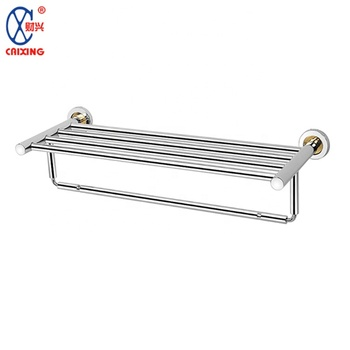 Modern style stainless steel towel shelf towel rack for bathroom