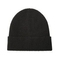 N492 High Quality Mohair Earflap Bun hat knitted beanie warm Wool winter hats for men women