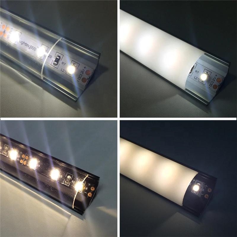 Custom Size LED aluminum profile / LED V Shape Profile aluminum channel strip light Bar Case