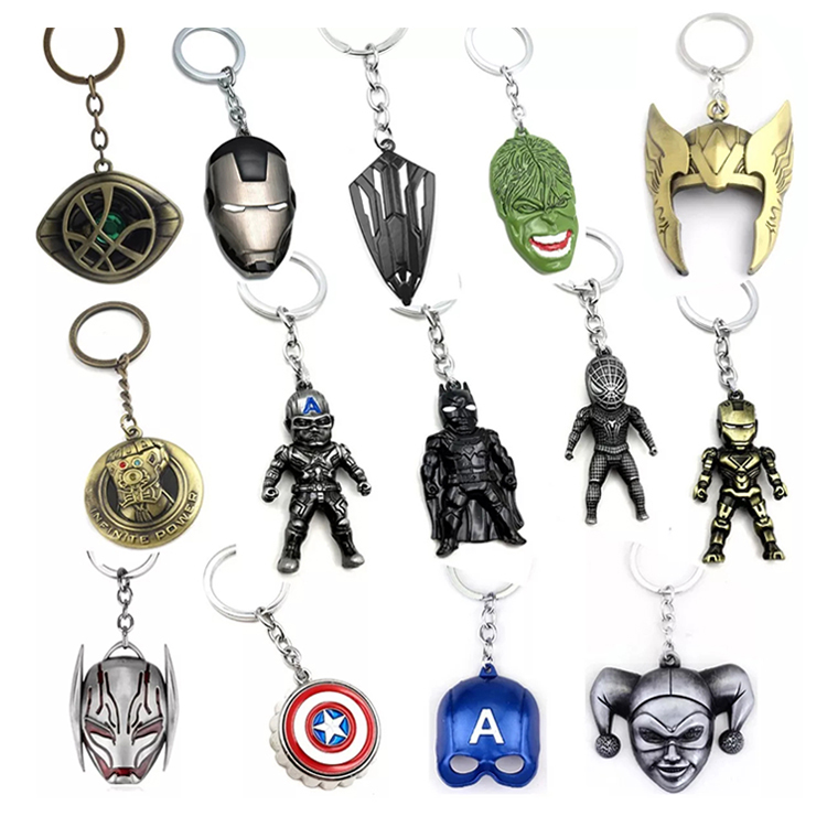 2019 Sep wholesale marvel thor hammer style design rich logo custom metal bottle opener avenger keychain suppliers