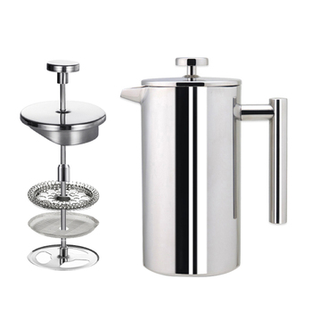 350ml 800ml 1000ml Vacuum Coffee Plunger Stainless Steel Double Wall French Press Coffee Maker Wholesale