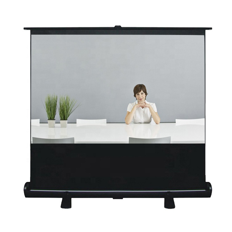 4K HD <strong>Portable</strong> Floor Rising <strong>Screen</strong> 60inch 16:9 Fabric Glass Material Pull Up Projector <strong>Screens</strong> For Office