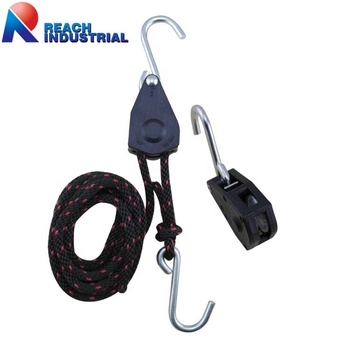 "1/4"" Rope Ratchet Tie Down with Aluminium Clip"