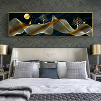 35*150cm New Chinese style abstract landscape light luxury style modern minimalist bedroom wholesale crystal porcelain painting