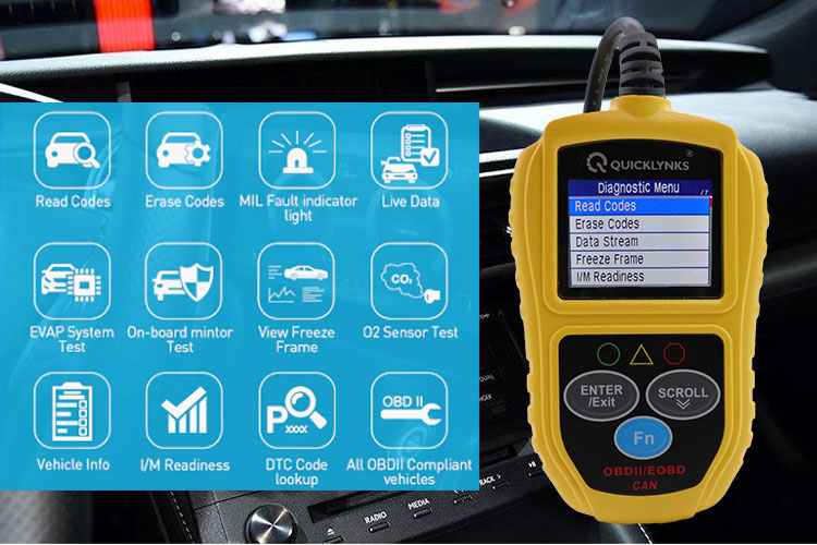 Check Engine Light Car Analyzer OBD2 Automotive Diagnostic Tool