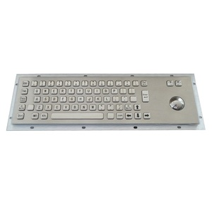 Customized IP65 water-proof stainless steel backlight USB keyboard ATM machine industry metal keyboard with trackball