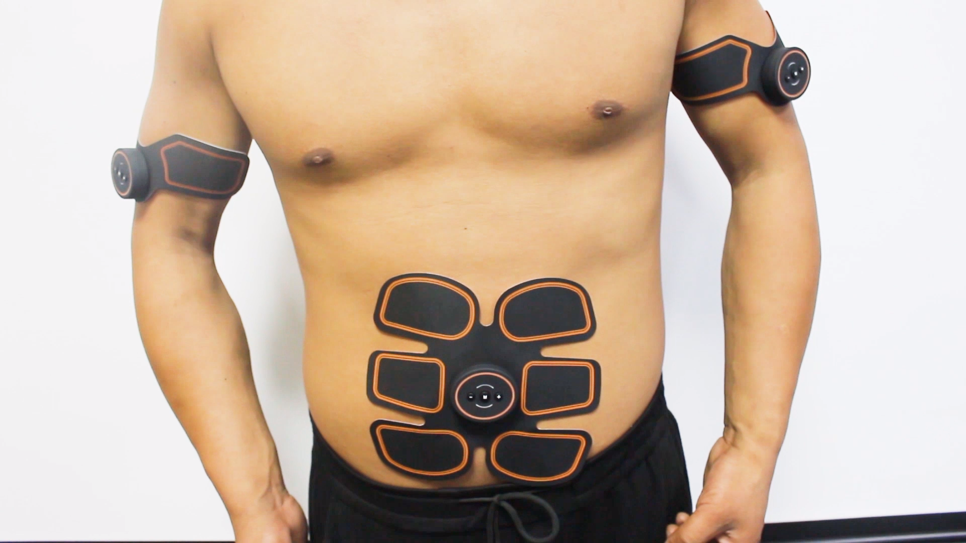 Stylo de massage électrique intelligent, stylo de massage électrique, stimulateur musculaire des bras, tampon de gel abs