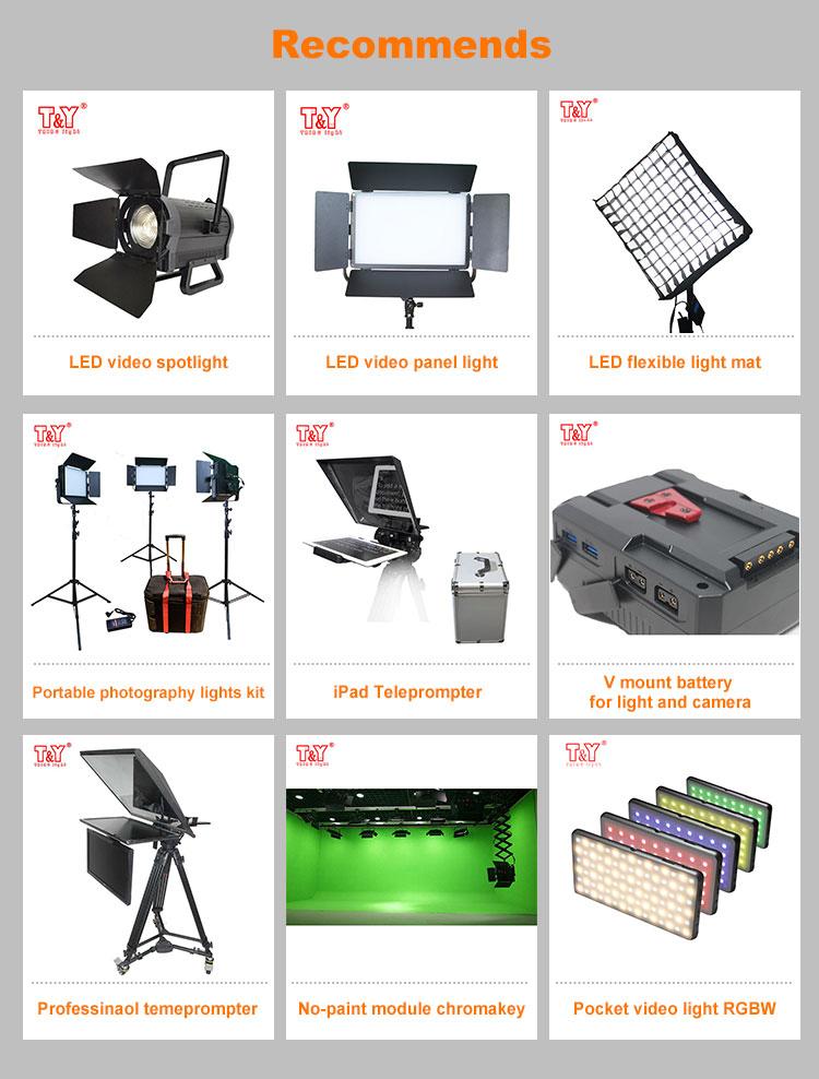 Film shooting equipment bi-color fresnel 200w led video spot light