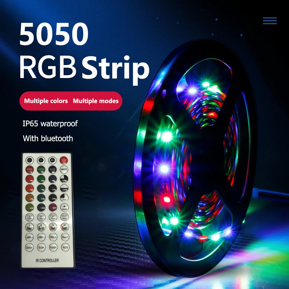 Hot sale 12V SMD 5050 RGB Bluetooth music Light Strips 5m IP65 led strip light