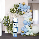 Transparent Box Wedding Party Decors Baby Shower Party Decorations Baby 1st One Birthday Party Decor Gift Babyshower Supplies