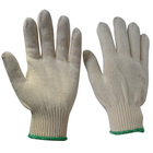 white cotton working gloves Knitted Protective Hand Safety Gloves Wholesale