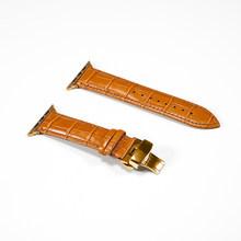 Кожаный ремешок для apple watch 5 4 полоса 44 мм 40 мм Бабочка Пряжка iwatch 3 2 ремешок 42 мм 38 мм ремешки для apple watch(Китай)