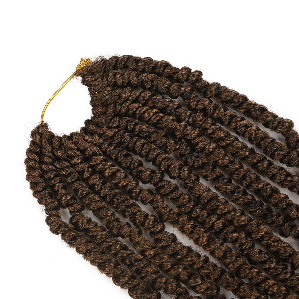 En gros Pré-Étiré Kanekalon Ombre Tressage Bombe Nouvelle Passion Printemps Torsion Synthétique Crochet Tresse Cheveux