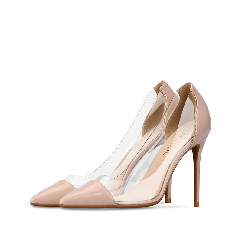 High Neuesten Neue Sandale PU Schnürsenkel Mode Heels China Großhandel Goxeou Frauen Heels Modell Phantasie Dame Bunte Designs roeQxBdCW