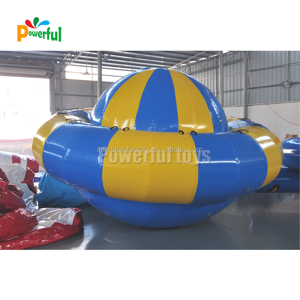 Towabale water toys inflatable disco boat for sea games