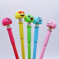 popular korean kawaii Shaking head gel ink pen with spring