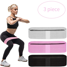 Custom Logo Yoga Gym Oefening Fitness Elastische Hip Stof <span class=keywords><strong>Weerstand</strong></span> Band <span class=keywords><strong>Set</strong></span>