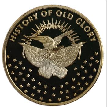 Custom History of Old Glory Enamel Metal Souvenir Challenge Coin