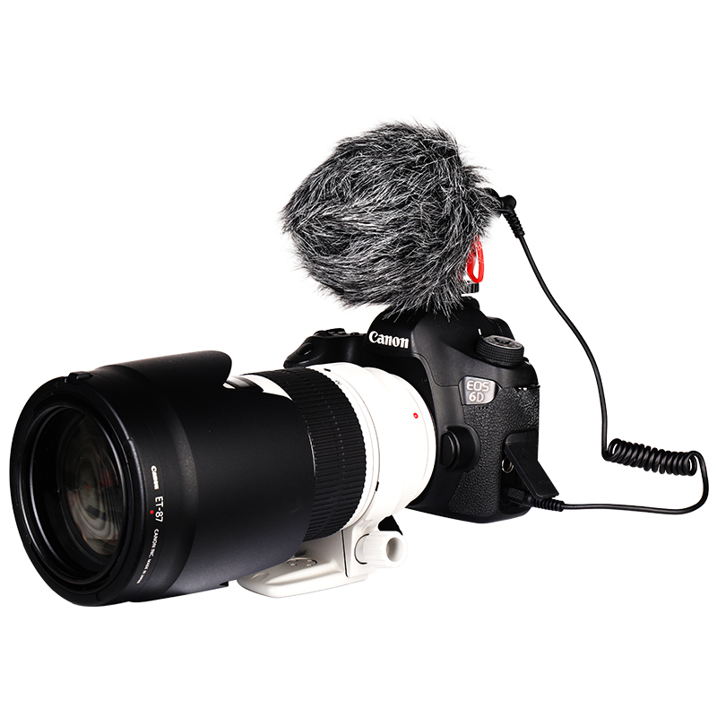 Manbily VM-M10 Video Microfoon Mini Mic Facebook Livestream Opname Shotgun Microfoon Voor Camera Smartphone