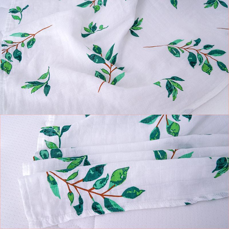 Ready To Ship 2 Layers Blanket Set Newborn Baby Organic Bamboo Muslin Swaddle