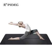 Pido original natural europe stand PU rubber yoga mat with body alignment line