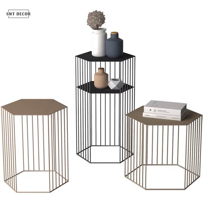 SWT Zeitgenössische Nordic Metall Kaffee Tisch Nesting Seite Tische