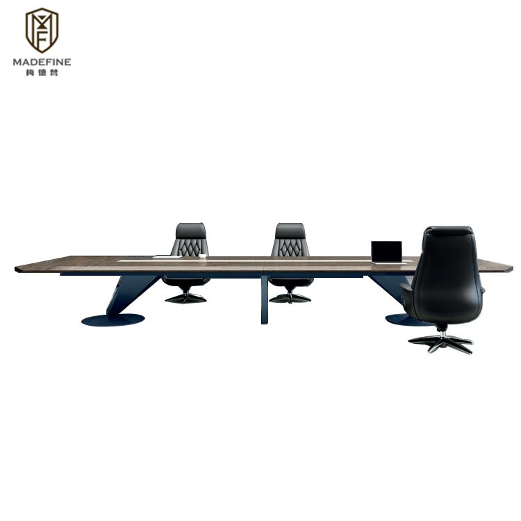 MADEFINE CH02 2019 Moderne De Luxe Haut De Gamme 4.8m 12 Places En Bois Massif Meubles de Salle de Réunion Table Table de Conférence