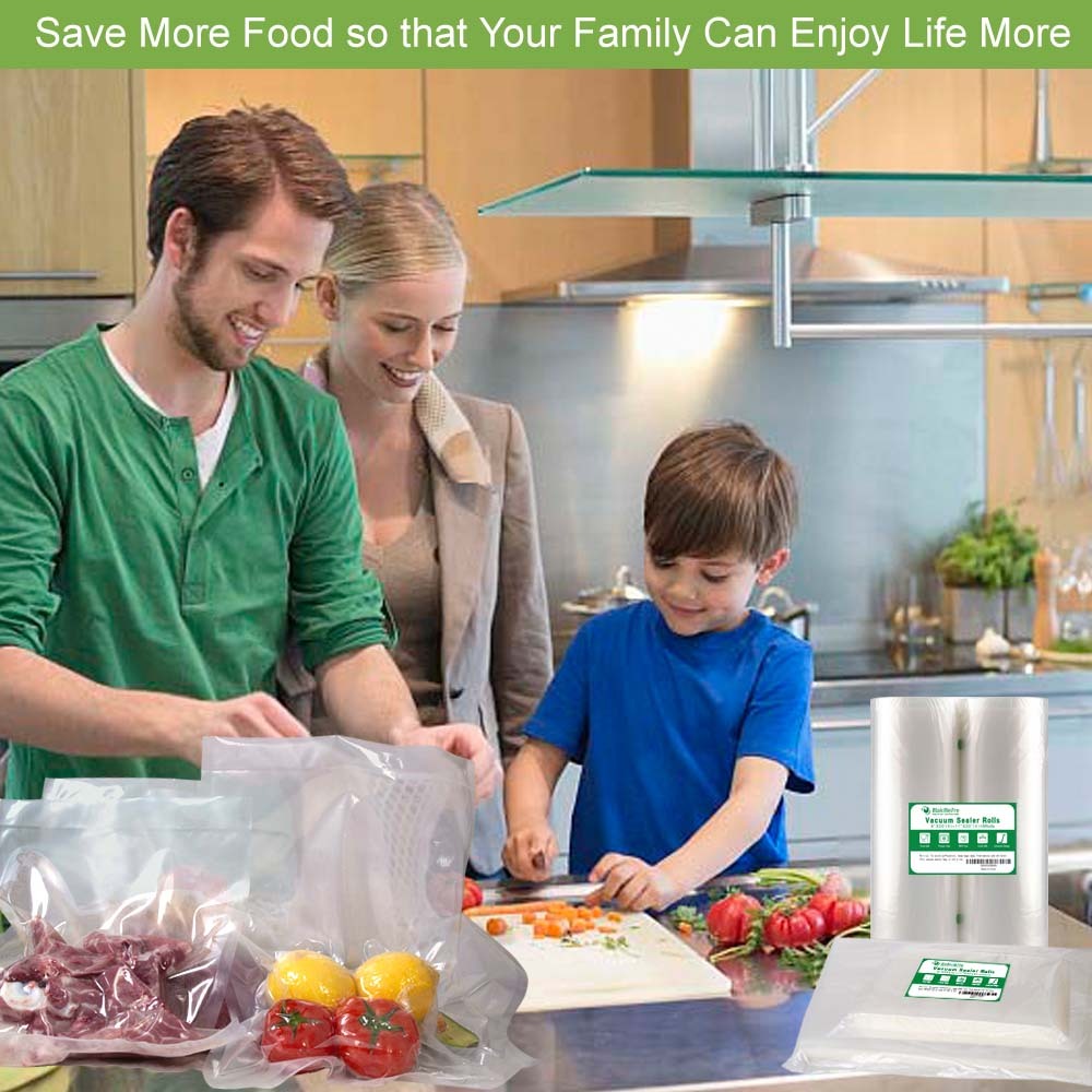 BPA Free Vacuum Sealer Bags Rolls for Food Saver, Seal a Meal, Plus Other Machine