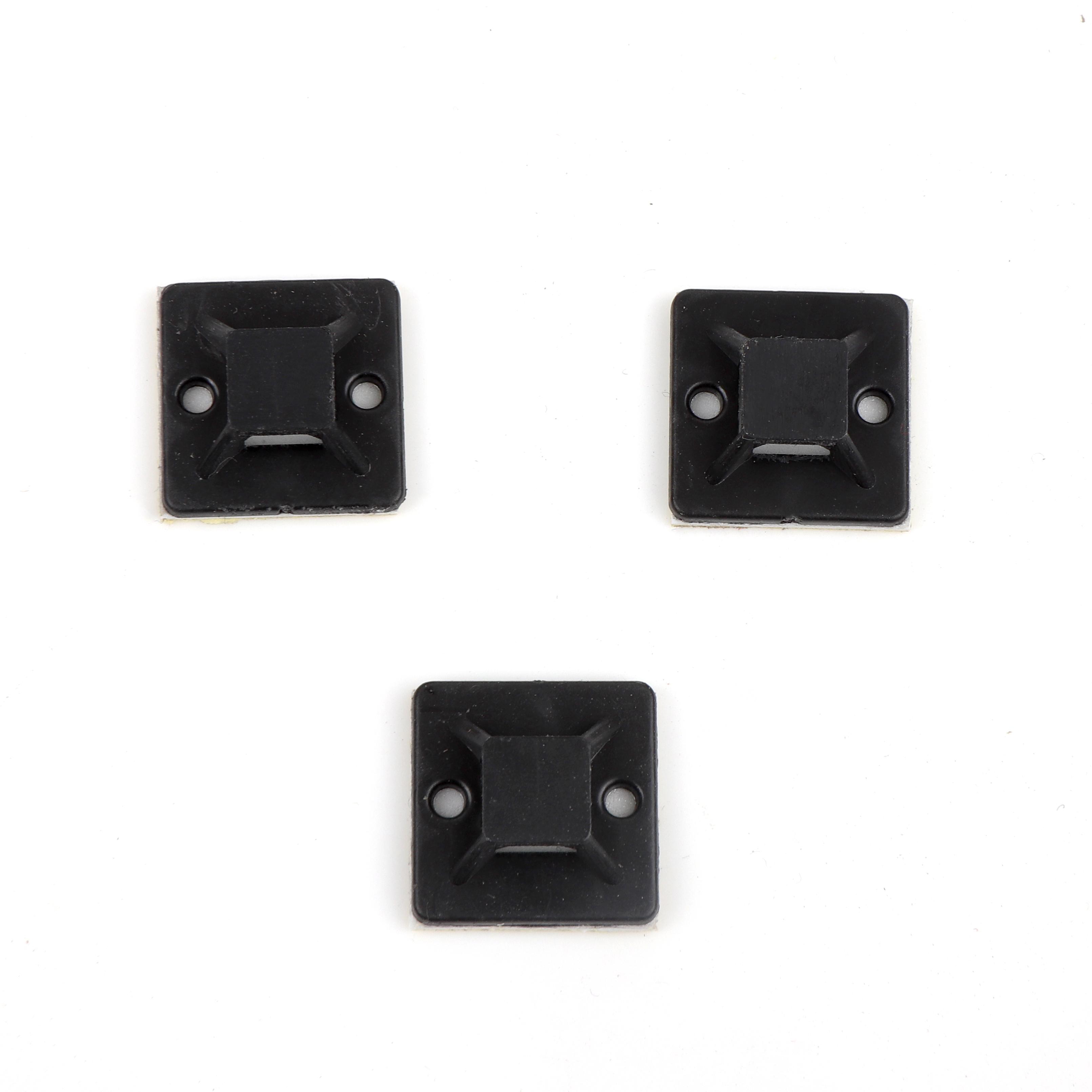 self adhesive tie mount High quality nylon wall self-adhesive cable tie base cable tie base