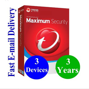 Image of Software Hardware Antivirus Digital Key Trend Micro 2019 Maximum Security 3 Year 3 PC antivirus internet security