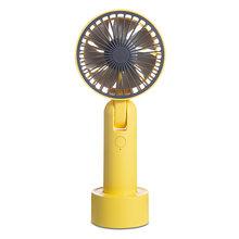 Мини USB портативный вентилятор, 3-скоростной ручной воздушный кулер, Электрический перезаряжаемый регулируемый вентилятор охлаждения для д...(Китай)