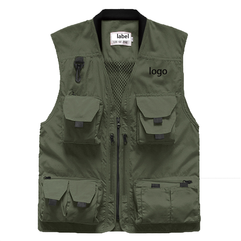 Wholesale vest  & waistcoat mens for hiking shooting photography  fisherman Journalist  denim waistcoats Vest for man
