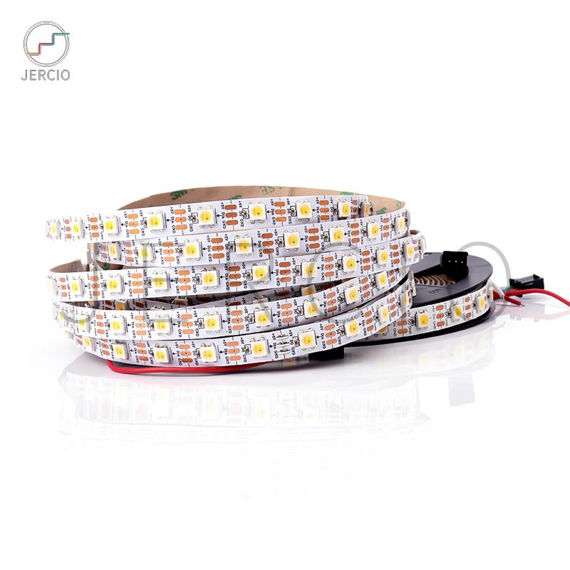 JERCIO SK6812 / WS2812 / XT1511-WWA ( Warm White   Cool White   Amber)  DC 5V 5050 SMD  Addressable LED Strips