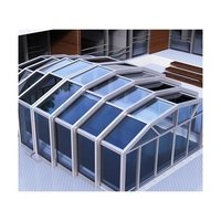 Outdoor Retractable Swimming Pool Cover for All Seasons