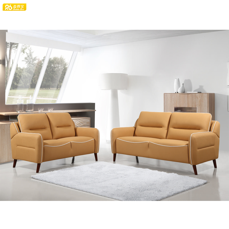 Urban modern style 2 seat leather sofa sectional couch furniture 1760