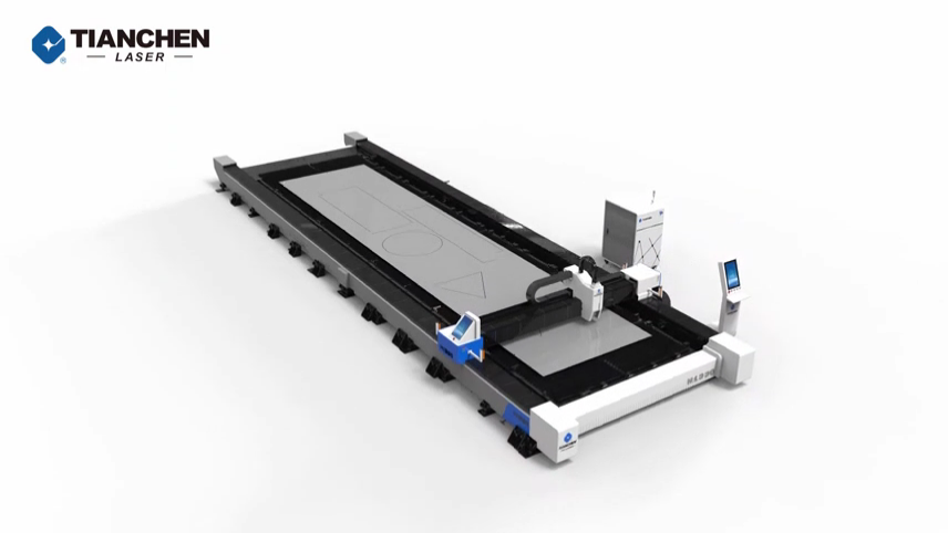 Excellent manufacturer Tianchen large area fiber laser cutting machine 1500W 2000W 4000W 8000W