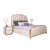 Comfortable Bedroom Furniture Luxury Bed italian Modern Leather Bed Metal Leg Double King Size Bed With High Headboard