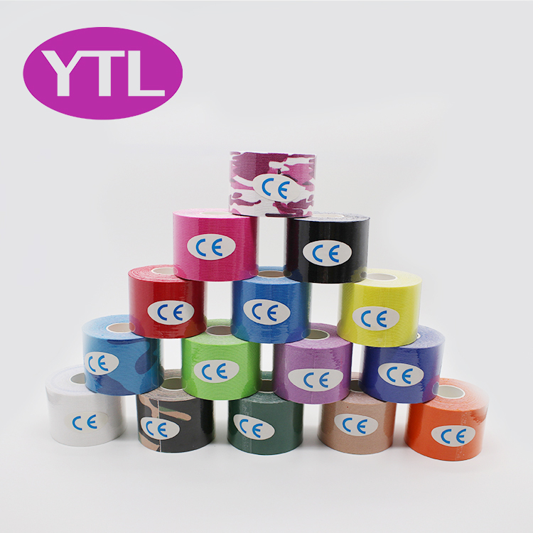 Kinesiology Tape Breathable Waterproof Athletic Recovery Sports Tape Fitness Tennis Knee Muscle Pain Relief Access