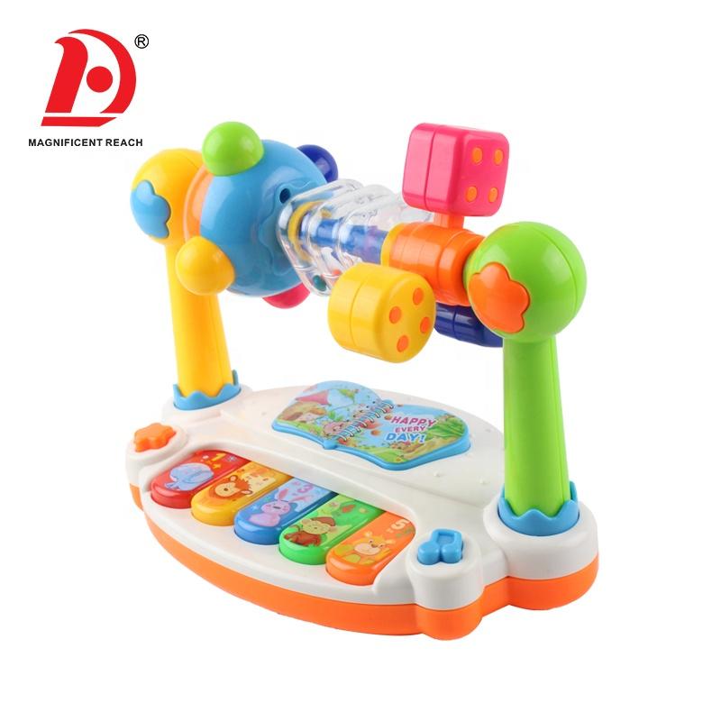 HUADA 2019 Christmas toys New Little Baby Educational Cartoon Musical Keyboard Piano Toy Electronic Organ