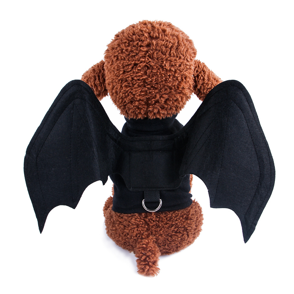 Foldable Dog Clothes Halloween Pet Clothes Cat Dog Spider Bat Wings Outfit Dog Halloween Costumes